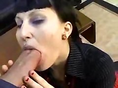 Goth Punk Dame Gets Plowed My Huge Cock