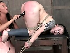 Kinky mistress punishes fat pussy of obese emo slut Luna LaVey