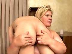 BBW breaks and humiliates powerless hot blonde