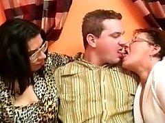 Juicy Fat Grandma Threesome