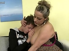 Naughty mature mom plowing not her sonny