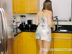 Stepmom MILF in Satin Nighty Drilling