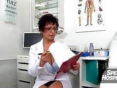 Hot milf Maya cum on tits after cfnm hj