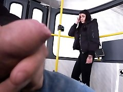 Female witnesses me jerking off on a tram!