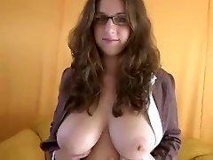 good-sized tit blowjob