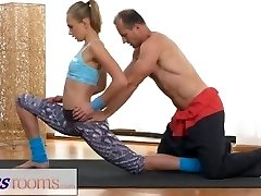 FitnessRooms Ivana Sugar has a full body and slit stretch with fitness tra