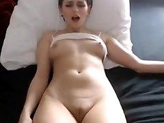 Sexy honey nipples fingering large cameltoe pussy