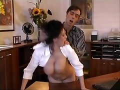 Beatrice busty secretary office orgy