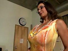 Best porn industry stars Persia Monir and Bonnie Skye in hottest brunette, masturbation gonzo gig