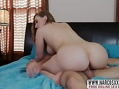 Blonde Step Mommy Harley Jade Gives Her Son While Wifey Sleeping