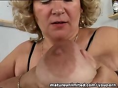 Melons and pussy mature solo