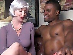 marvelous milf seduces black stud
