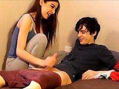 teen caught her roomie sniffing her panties