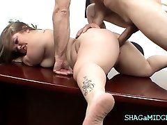 Office Tear Up With Sexy Midget Babe