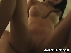 Huge-boobed amateur fucks on holiday