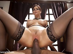 Domestic Rectal Milf Training Syren de Mer, Day One - TheTrainingofO