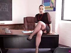 Very abnormal Russian teacher Olga spreads gams and flashes off her pussy