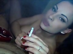cigarette fetish blowjob and fuck