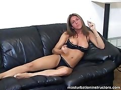 Smoking MILF flashes jugs as she longs for your man-meat