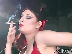 Angela Ryan Spandex and Smoking Fetish