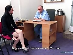 Timea Gynecology Exam - assfuck and vaginal inspection before speculum insertion