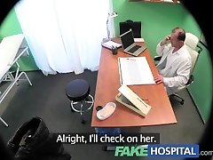 FakeHospital Horny busty towheaded receives a creampie from the doctor