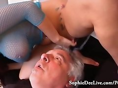 Lick Mistress Sophie Dee's Wet Pussy Sub!