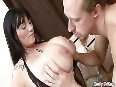 Big Bra-stuffers BBW Simone Gets Melons & Cunt Pounded