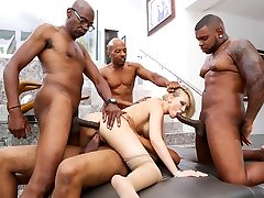 Kagney Lynn Karter & Rico Strenuous & Sean Michaels in Blacked Out, Scene #02