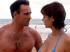 Catherine Bell JAG S05 E15 Blue Bathing Suit