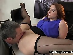 Fabulous sex industry stars Jimmy Broadway, Rose Red in Amazing Redhead, Big Ass gonzo movie