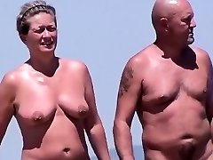 Stagging On Nudists At A Beach In France