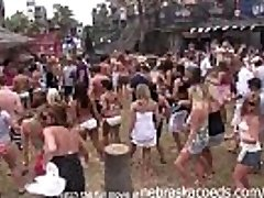 partying with their hooters out on south padre beach