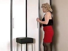 Wanting cock mature female masturbates