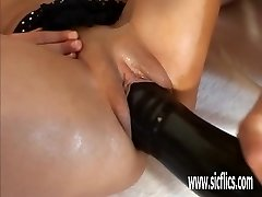 Hot Latina fisting and giant dildo insertions