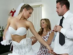 Big breasted bride and her sexy kooky please super-naughty groom with steamy BJ