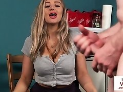 Busty english voyeur taunting and instructing