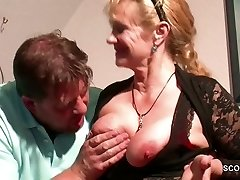 German Step-Mother Want His Monstrous Manmeat and Seduce him to Fuck her