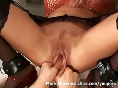 Going Knuckle Deep and stretching my hot girlfriends massive cunt