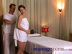 Massage Rooms Super-fucking-hot oil foreplay ends in creampie