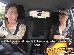 Fake Driving School Sexy wire on fun for new big bosoms drive