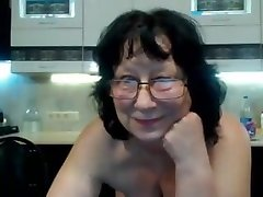 Granny masturbating glasses web cam