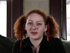 Ugly Redhead Fingering Her Hairy Pussy
