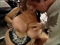 Gross GRANNY WITH HUGE Jugs FUCKED  BY THE MECHANIC 1