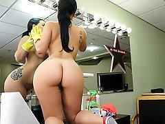 Kimmy Kush in Fat Latina Maid Enjoys First Day - BangBros