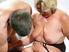 German Grandma takes a youthfull cock - MMVFilms