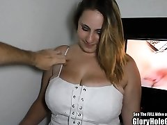 Big Inborn Tit Blonde Glory Hole Blowjobs