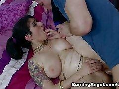 Extraordinaire pornstars Bill Bailey, Arabelle Raphael in Exotic Big Backside, Brunette adult tweak