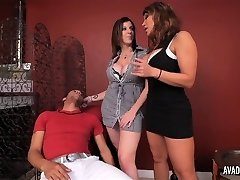 PornstarPlatinum - Ava Devine and Sarah Jay with young stud