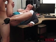 Big baps and gorgeous MILF gets her tight slit hammered by Shawn